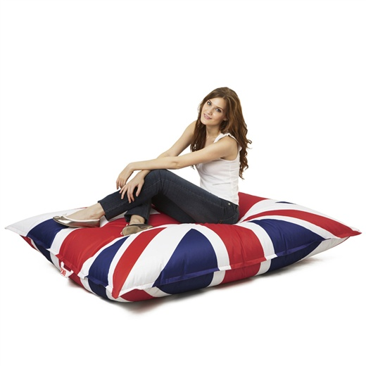 pouf big g drapeau anglais. Black Bedroom Furniture Sets. Home Design Ideas