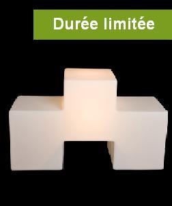 Module lumineux siège Tris blanc by Gabriele Bavastrelli