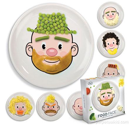 Assiette design : Les assiette Food face by Jason Amendolara