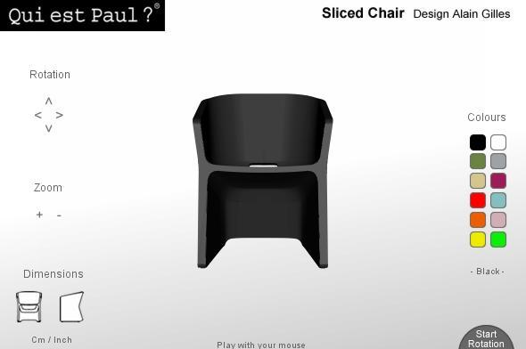 Sliced Chair Qui est Paul