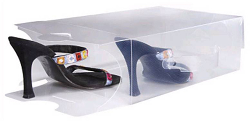 bo tes chaussures transparentes l astuce du jour. Black Bedroom Furniture Sets. Home Design Ideas