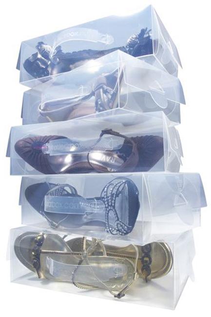 bo tes chaussures transparentes l astuce du jour blog deco. Black Bedroom Furniture Sets. Home Design Ideas