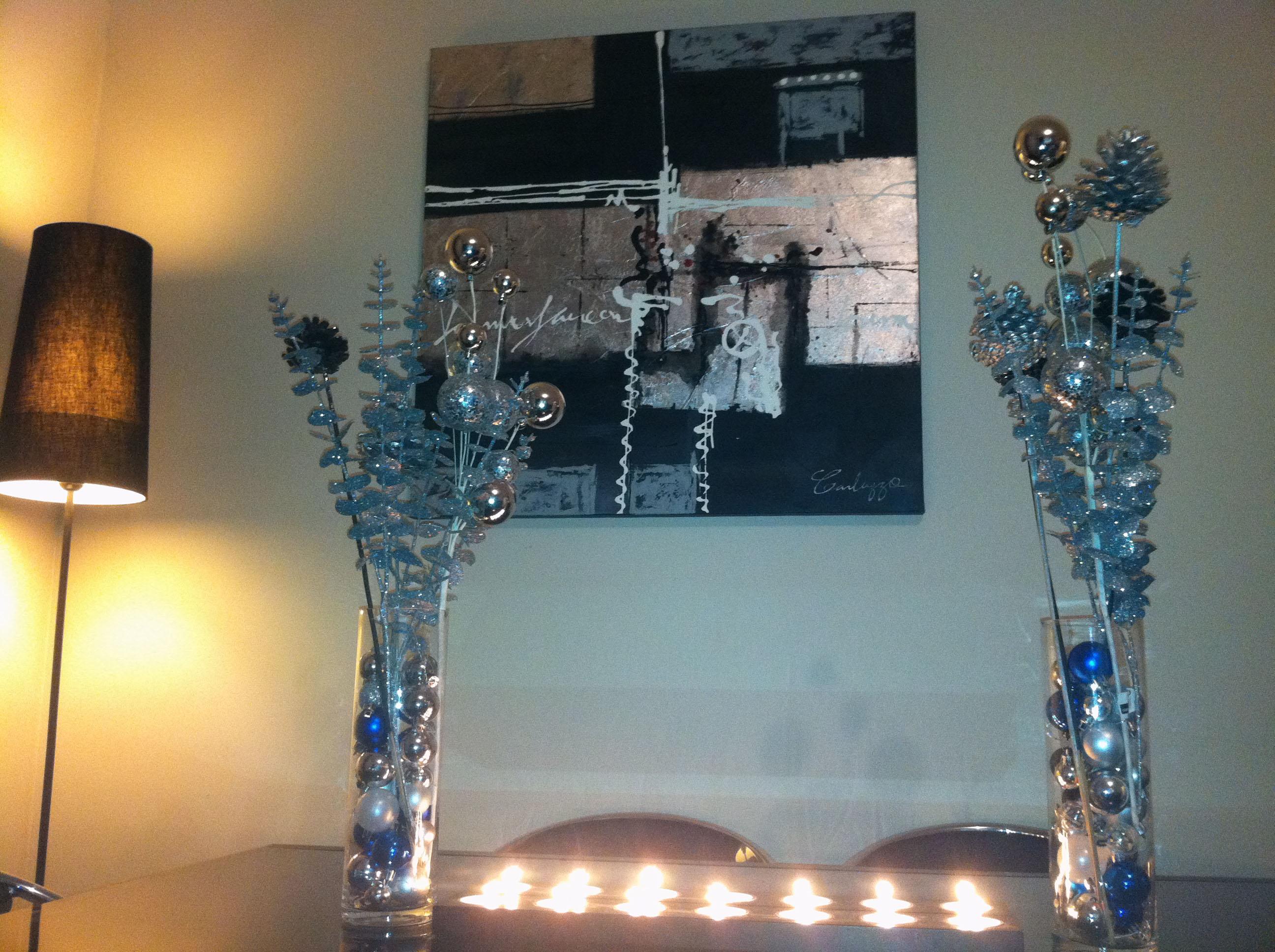 Cette ann e noel sera bleu et argent deco tendency - Deco table noel bleu argent ...