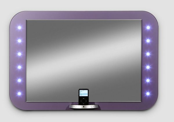 Miroirs design - eMIRROR le premier mirroir pour Ipod et Iphone