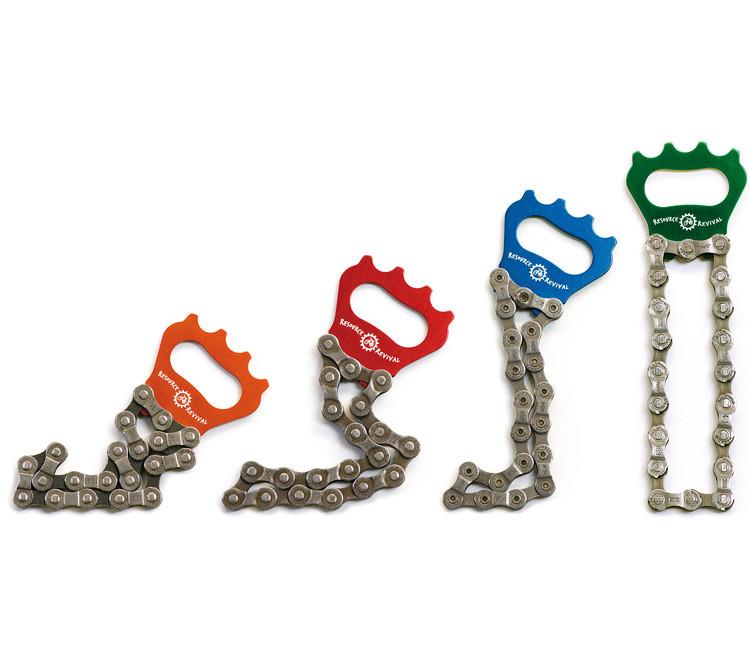 Décapsuleurs design :Le décapsuleur décapsuleur en chaîne de vélo recyclée