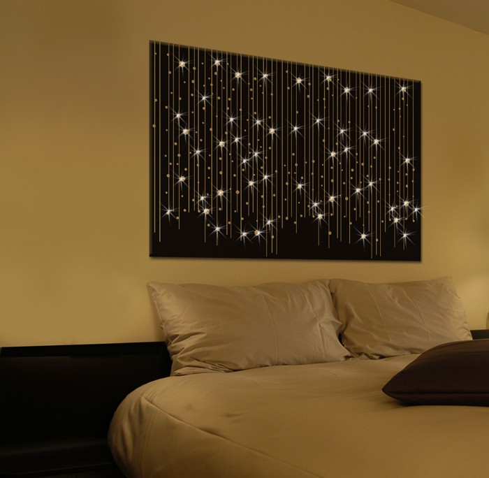 un tableau led original et discret le blog deco tendency. Black Bedroom Furniture Sets. Home Design Ideas