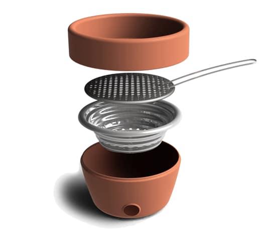 hot-pot bbq : barbecue et pot à fleur 1