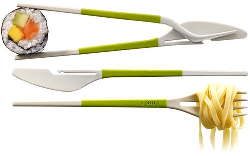 Couverts design - Les couverts baguette Twin One de Lékué