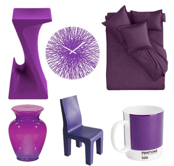 mon shopping d co violet deco tendency. Black Bedroom Furniture Sets. Home Design Ideas