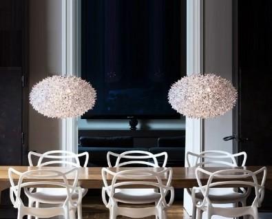 Lampe over stuebord høyde