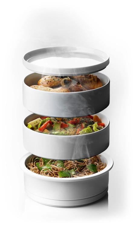 Christian bj rn pr sente son cuiseur vapeur steam tower - Cuisine asiatique vapeur ...