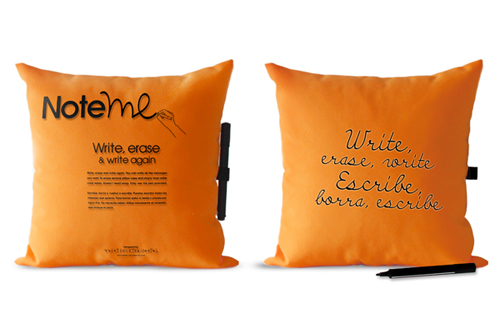 Note Me Pillow coussin Margui Mora