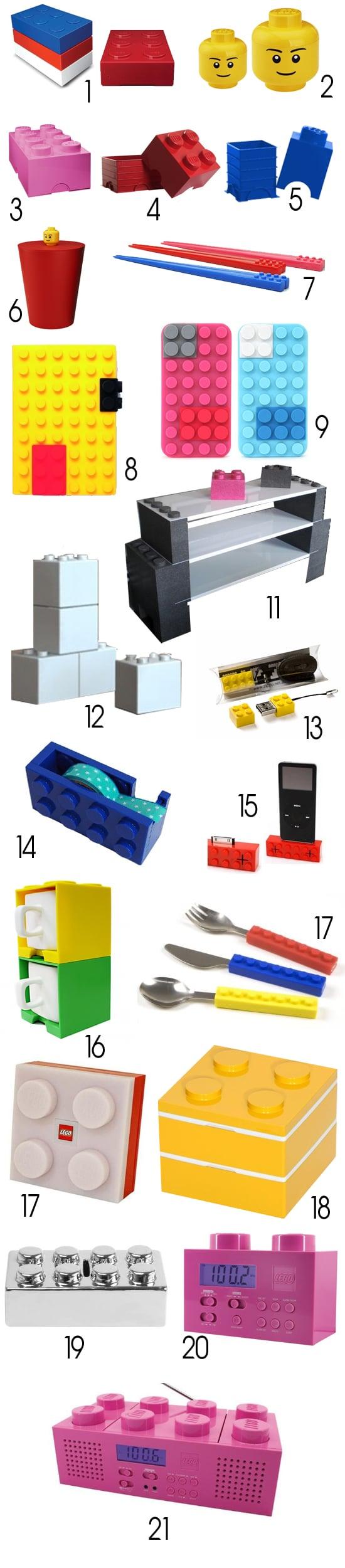 Déco Lego 21 petits produits Lego supplémentaires
