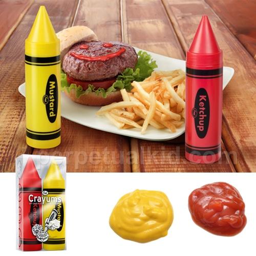 Crayums pots à ketchup et moutarde