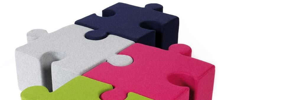 KidzPuzzle pouf pour les enfants