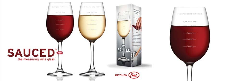 Sauced verre à vin mesureur
