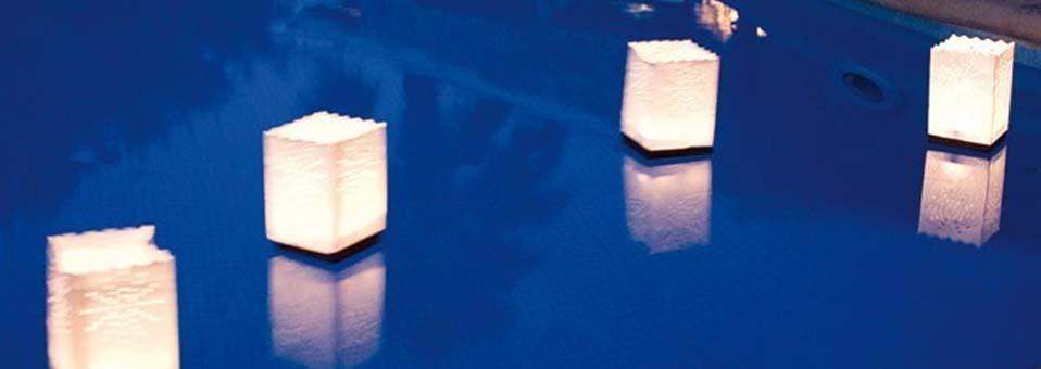 lanternes photophores flottantes en papier