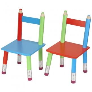 chaises crayons et la table crayons deco d 39 enfant. Black Bedroom Furniture Sets. Home Design Ideas