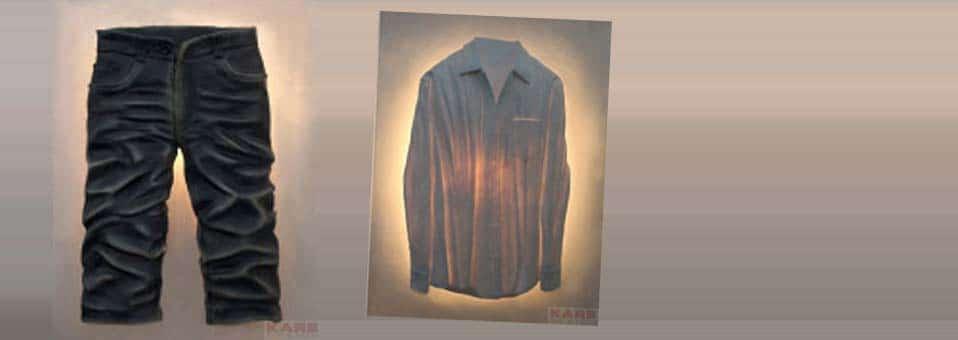 appliques chemise et pantalon