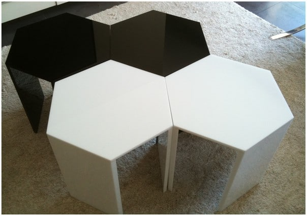 table basse modulable acrylique