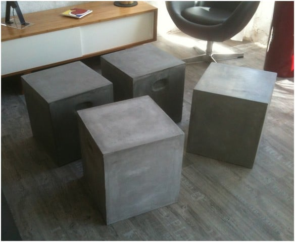 Table Basse Aspect Beton Modulable Blog Deco Tendency