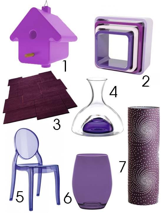 Déco colorée violet