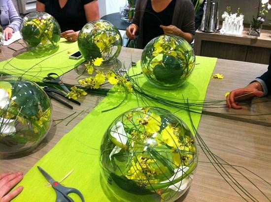 Sia atelier floral en boutique blog deco tendency for Centre de table bambou