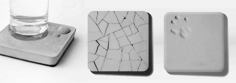 dessous de verre absorbants en beton