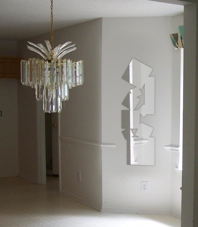 Miroir design carré en acrylique