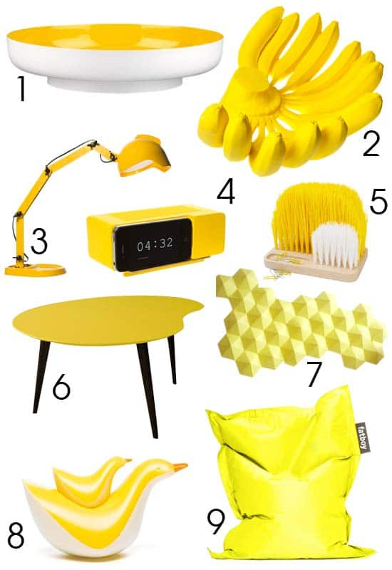 D co jaune mon shopping deco deco tendency for Decoration jaune