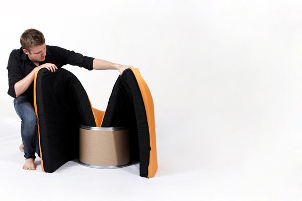 Chaise Paq fauteuil Géza Csire