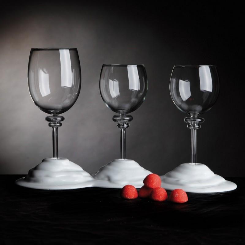 Les supports de verre à vin designWaterwinewineby Philippe Fournié
