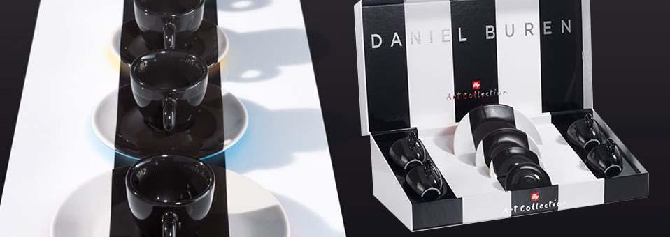 Daniel Buren tasses à expresso et soucoupes