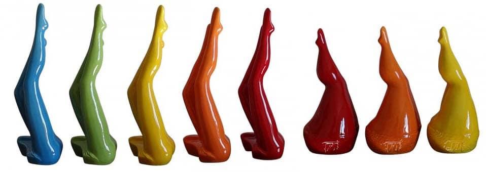 Jeu de jambes sculpture Véronique Vantesone
