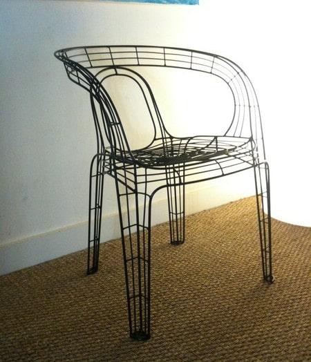 chaise fil de fer
