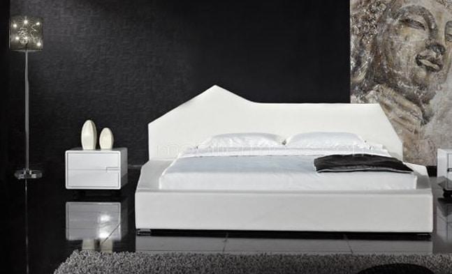 lit design cubique en cuir Nirvana