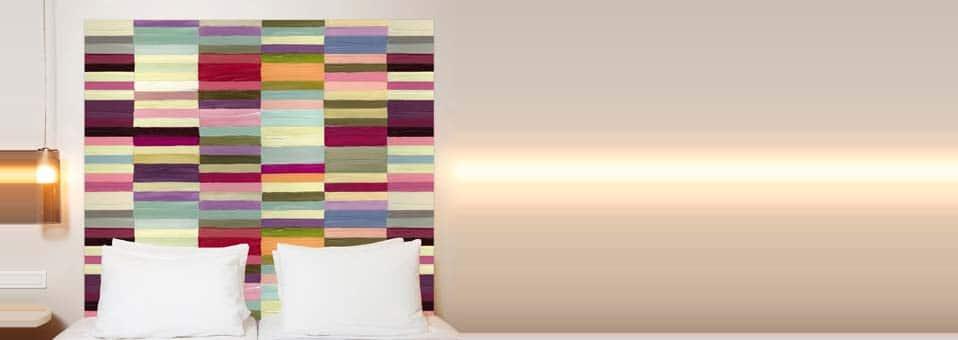 t tes de lit color es mademoiselle tiss deco tendency. Black Bedroom Furniture Sets. Home Design Ideas