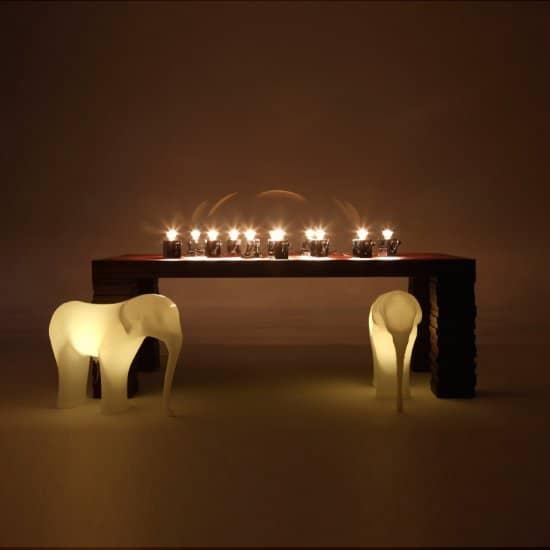 Low Res Elephant Tabouret lampe Richard Hutten