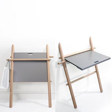 appunto le bureau pliant by laurent corio deco tendency. Black Bedroom Furniture Sets. Home Design Ideas