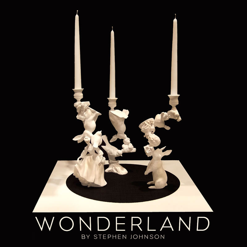Bougeoir design -Les chandeliers Alice au pays des merveilles