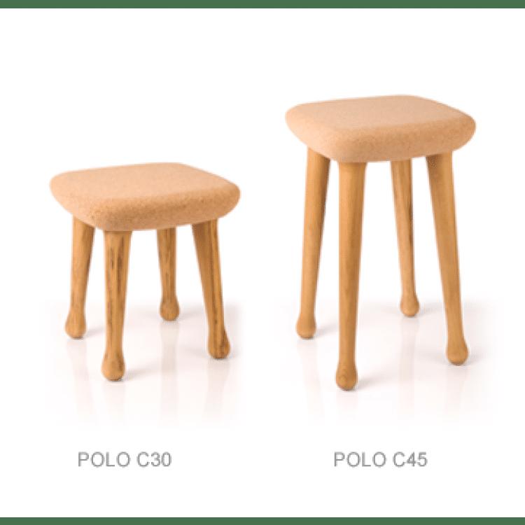 tabouret design en liège POLO C