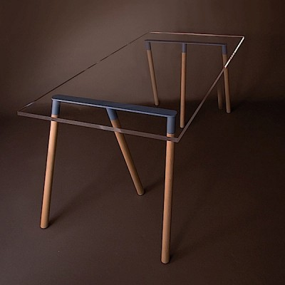 Tr teau design kross le blog design d co tendency - Treteaux pour table salle manger ...