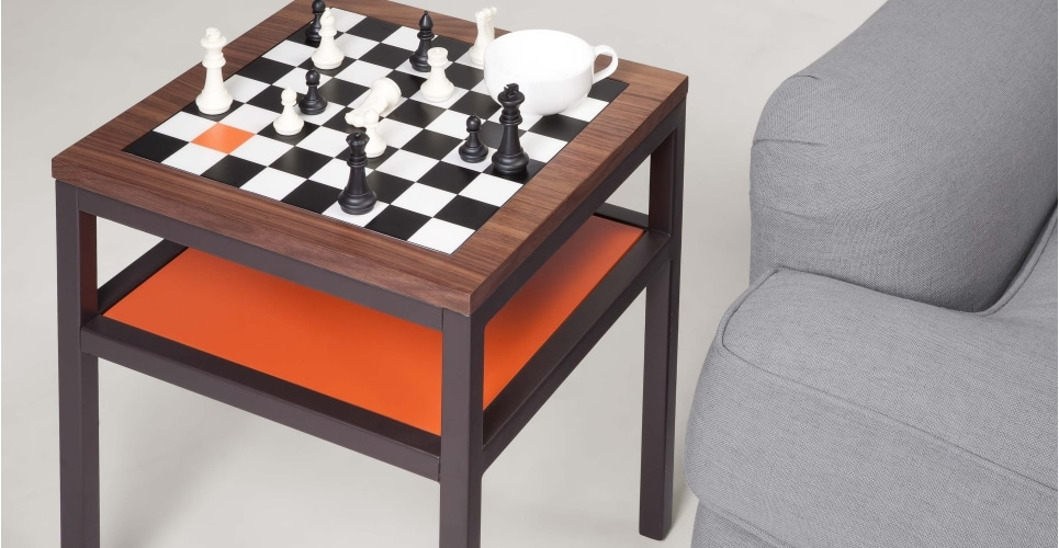 Contrast table damier Olivia Putman