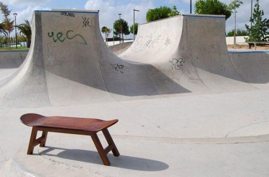 Nollie Flip banc Skate