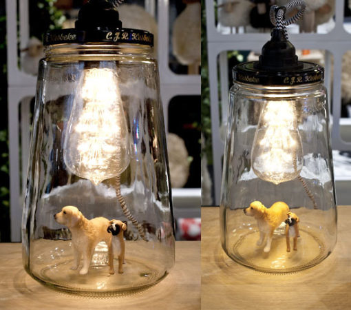 La lanterne à poser ou à suspendre Pickle Light upcycling