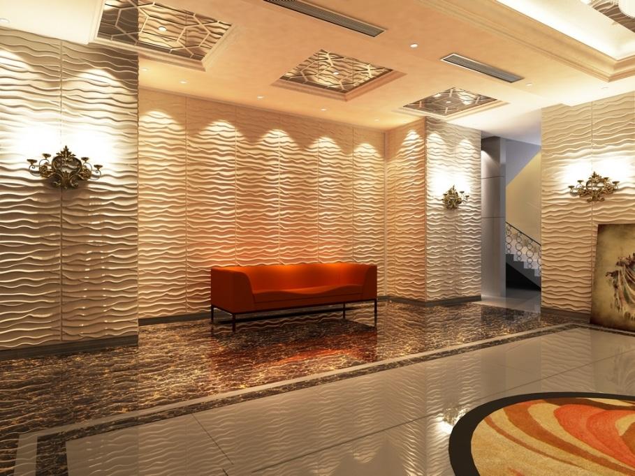 panneaux muraux 3d une vraie touche de nouveaut. Black Bedroom Furniture Sets. Home Design Ideas