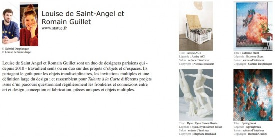 Talents à la carte louise de saint-angel romain guillet