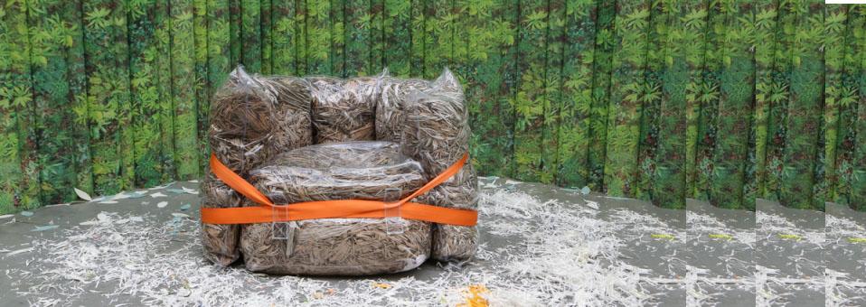 fauteuil Drop Seat upcycling - Philippe Malouin et la lampe Brick