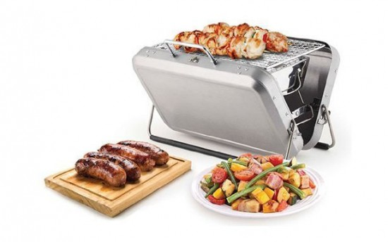 barbecue portable Suitcase Kikkerland