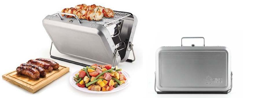 barbecue portable Suitcase Kikkerland1 - Arrosoirs design Butler et Lungo by Xala
